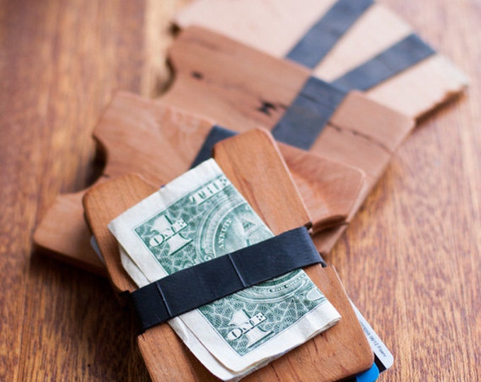 Reclaimed Cherry Wood Wallet // The Twin