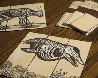 Animal Bookmarks - Set of 3 - Screen Printed -  Society for Scientific Exploration