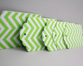 25 Green chevron gift tags,baby shower paper tags,lime green tags,green chevron paper tags,chevron cards,green wedding tags,chevron tags