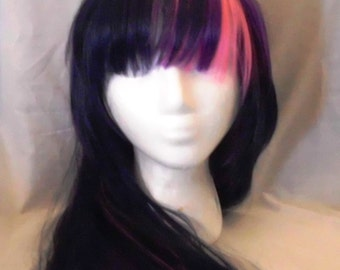 Twilight Sparkle Wig,  MLP Unicorn Purple and Pink Costume My Little Pony , my little pony cosplay