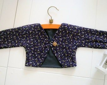 Sale, Super cute Bolero with small flowers for babies/toddlers, bolero, jacket, vest, toddler, baby, baby clothes, clothes