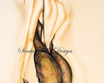 Watercolor Fashion Illustration Original Limited Edition Art