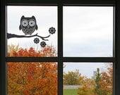 Owl on a Branch Vinyl Decal size 3X-LARGE - Home Decor, Children's Room Decor, Nursery Design, Animal Decal, Office Decor, Owl Decal