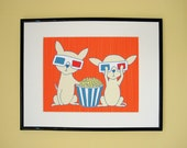 Chihuahuas In 3D Giclee Print