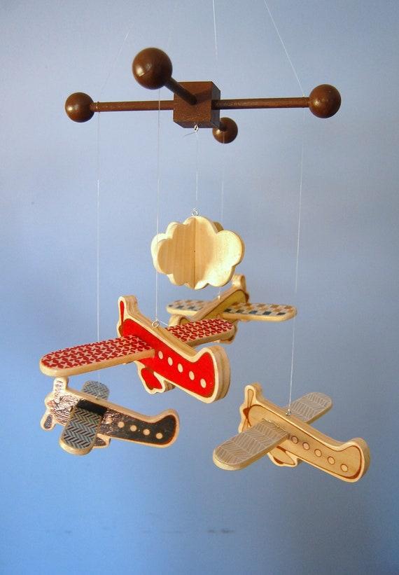 Baby Mobile - Modern Airplane Mobile