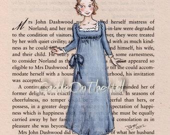 Jane Austen Sense and Sensibility Marianne - 5 x 7 print