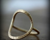 Forged ring - gold filled ring