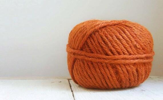Vintage Rusty Orange Macrame Jute - 70 yds - 5 Ply