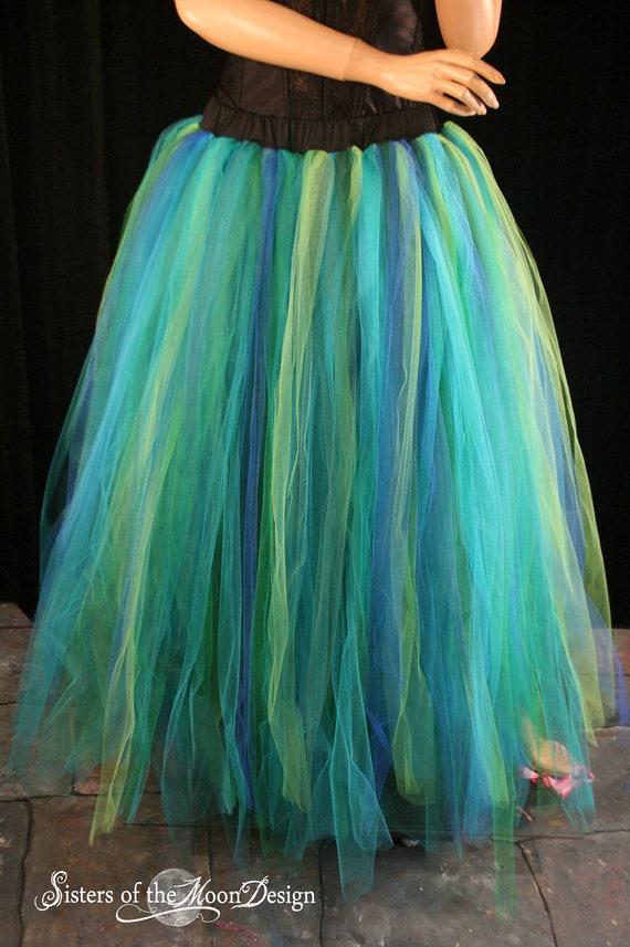 Adult tutu skirt Streamer floor length formal bridal mermaid halloween costume prom fairy wedding --You Choose Size -- Sisters of the Moon