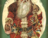 Christmas, For Good Children, Victorian Santa-  Antique Book Cover Scan - Instant Digital Download DB040