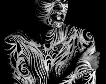Apparition of Truth body art photography print 5x7