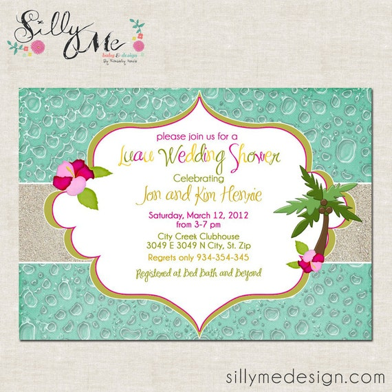 Luau Party Custom Baby Shower Invitation Bridal Shower