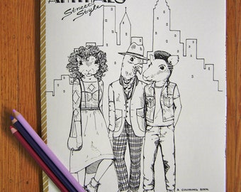 Urban Animals Street Style Coloring Book