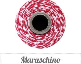 240 Yards (Full Spool) of Bakers Twine . Maraschino Red