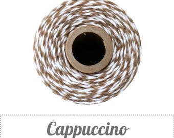 240 Yards (Full Spool) of Bakers Twine . Cappuccino Brown & White