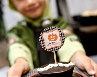 Halloween Printable Cupcake Toppers - Eerie & Cheery