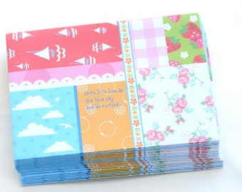 Patchwork Envelopes (20pk) - LAST SET
