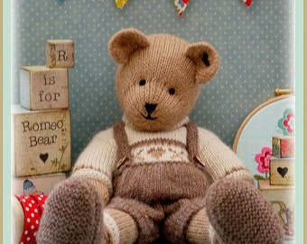 CANDY Bear/ Toy/ Teddy Bear Knitting Pattern/ PDF/ Plus Free