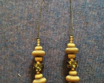 Vintage beads and brass 1980s necklace