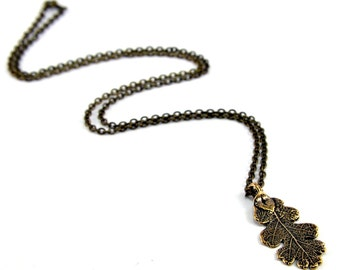 Two for One Sale....Oak Leaf Necklace