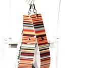 Colorful dangle earrings // Paper jewelry