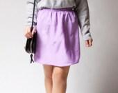 vintage 1980s skirt / 80s lavender skirt / Sweet Talk Skirt
