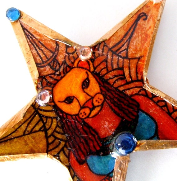 Handmade Sekmet Lion Headed Egyptian Protectress Ornament
