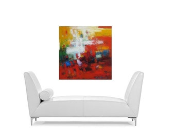 Large Abstract painting on canvas large modern art contemporary fine art 30x30 inch