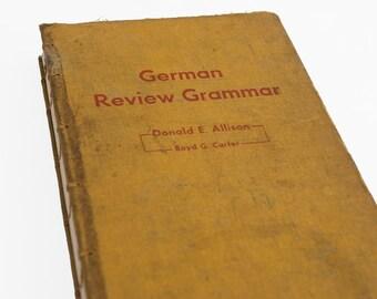 1965 GERMAN GRAMMAR Vintage Notebook Journal