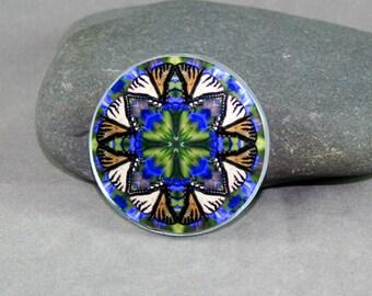 Butterfly Magnet Boho Chic Mandala New Age Sacred Geometry Hippie Kaleidoscope Aurora's Aria