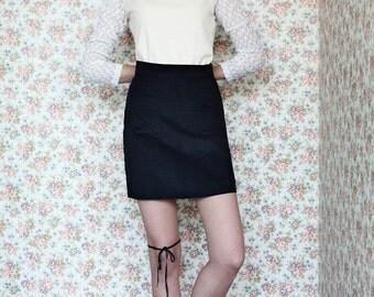 Cream blouse, Cream top, Long sleeve shirt, Women shirt,  Winter top, Womens blouse,