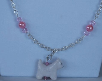 Necklace - Hand Sculpted Westie