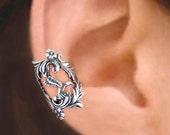 Hummingbird ear cuff Sterling Silver earrings Hummingbird jewelry Hummingbird earrings Sterling silver ear cuff clip non pierced C-089.202