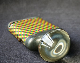 Fun old flashlight. Multi colored. Collectible gift for guys.