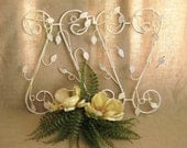 Shabby Metal Wall Decor / Ivy Panel for Wall or Table Top Wedding Decor / Jewelry Display