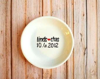Ring Dish - Personalized Engagement Gift for the Bride