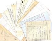 10 Assorted VINTAGE LEDGER Paper Pack