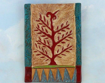 Tree of Life | Ceramic Wall Hanging | Large Wall Tile | Handmade Wall Art | Tree Art | Clay Tree Hanging | Decorative Ceramic Wall Hanging