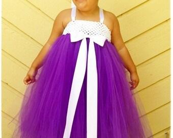 Tutu Dress, Flower Girl Dress- Flower Girls Dresses- Girls Tutu Dress- Wedding - Tutu- Tutus -Available In Size 2T- 5T