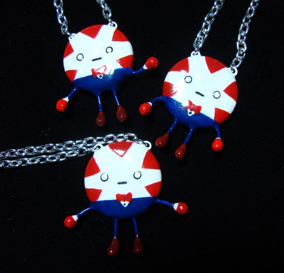 Peppermint Butler Necklace Adventure Time - Bendy Arms & Legs - Cute Funny Cartoon Candy