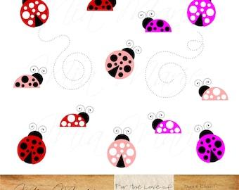 Ladybugs clipart | Etsy