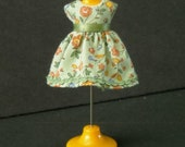 Tiny Green Print Dress for LPS Blythe or Petite Blythe