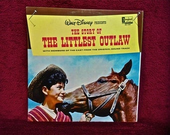 WALT DISNEY presents - The Littlest Outlaw - 1963 Vintage Vinyl Record Album