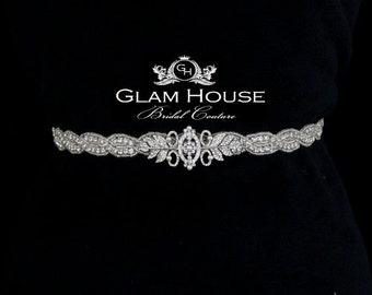 Beaded Bridal Sash,wedding sash,Pearl belt,wedding accessories,braided belt,leaf belt,beaded belt,rhinestone belt,wedding dress sash,