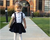 Molly Schoolgirl Skirt: Girls Skirt with Suspenders PDF Pattern, Baby Skirt PDF Pattern, Toddler Skirt PDF Pattern