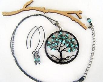 Tree of Life, Break of Dawn, Tree Necklace Set