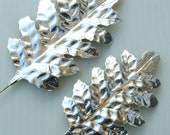SILVER Paper Craft Leaves Metallic Christmas DIY Wreath Corsage Craft Art Supplies SM.