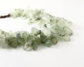 Multistrand necklace: green necklace, natural gemstones chunky statement necklace mint jewelry