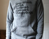 A Game of Thrones // Direwolves Eco-Fleece Hoodie // Grey Wind, Lady, Nymeria, Summer, Shaggydog, Ghost