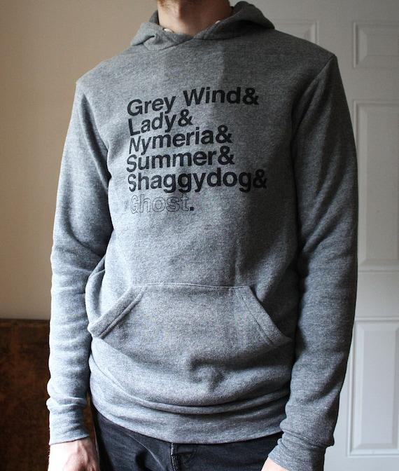 A Game of Thrones // Direwolves Eco-Fleece Hoodie // Grey Wind, Lady, Nymeria, Summer, Shaggydog, Ghost
